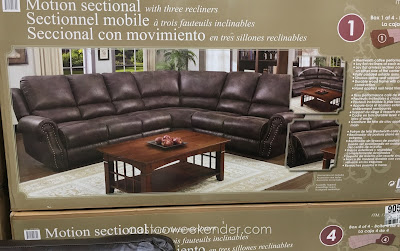 Motion Fabric Reclining Sectional for any home's living room or family room