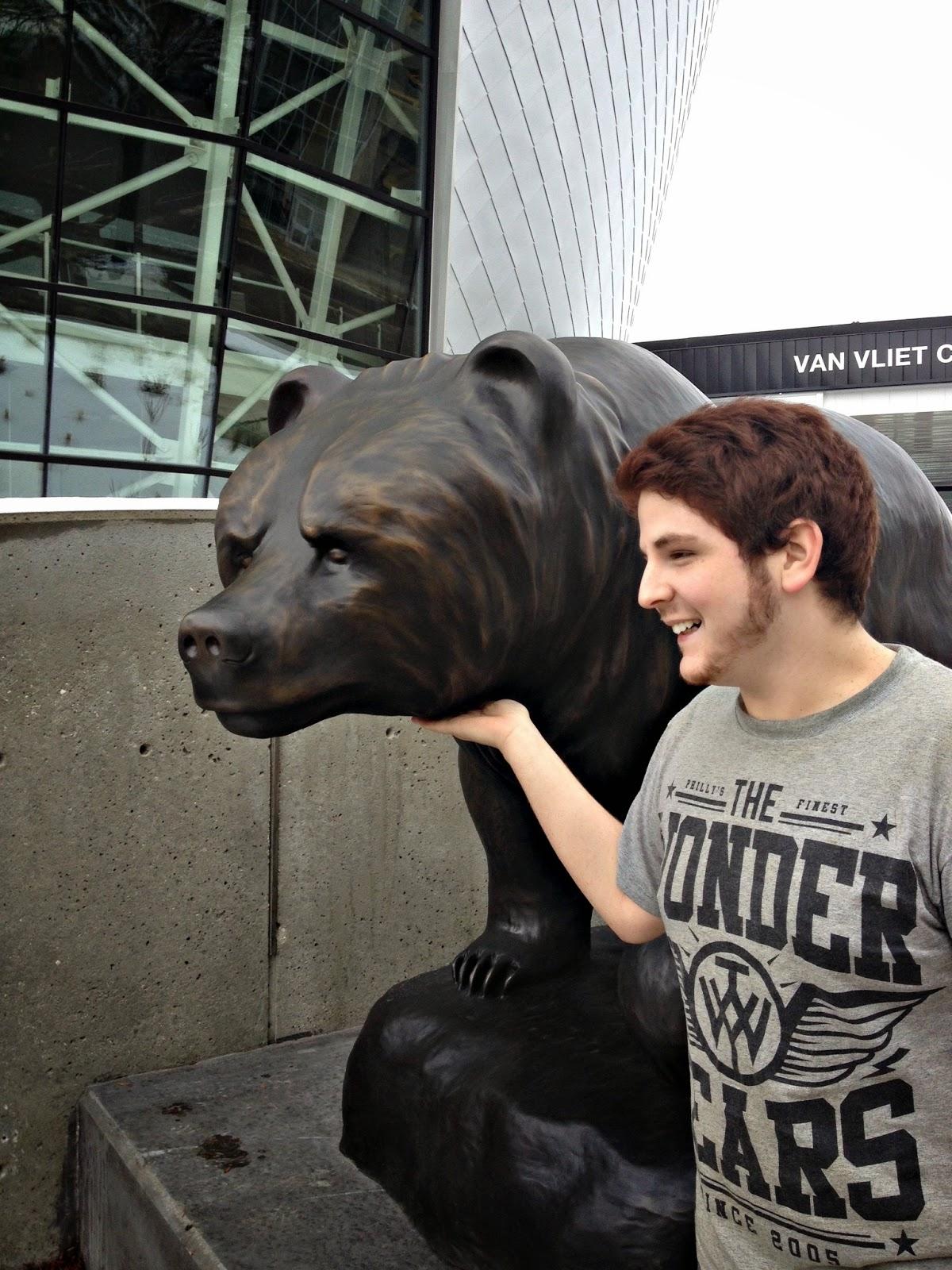 Tickling the UAlberta Alberta Bear