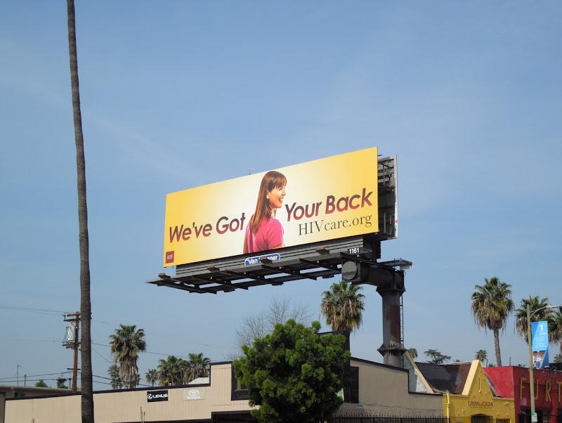 AHF HIV care billboard