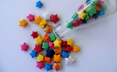 Estrelinhas de origami - passo a passo