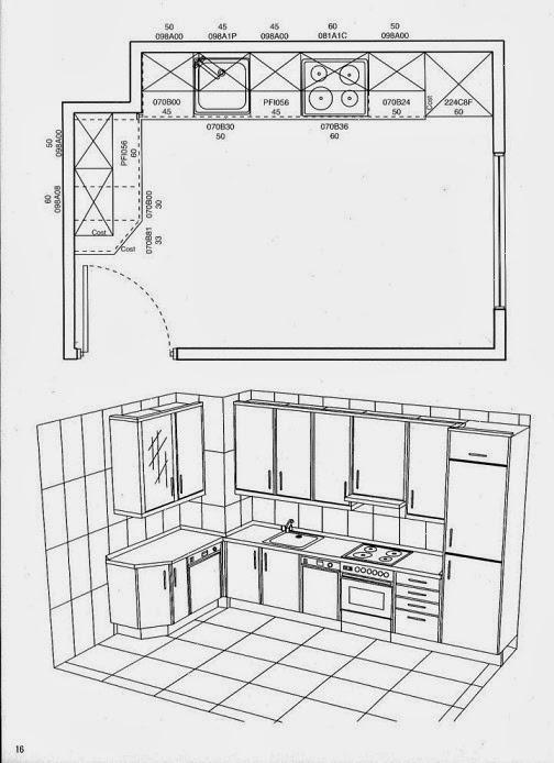 Dise o de cocinas planos de cocinas im genes de cocinas for Planos para una cocina pequena