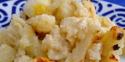 receta coliflor frita con patatas y queso