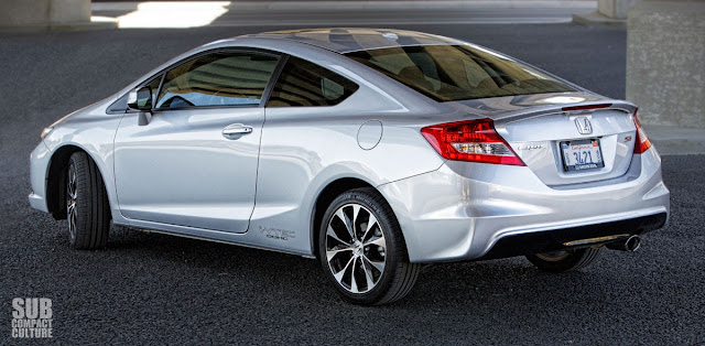 2013 Honda Civic Si Coupe rear 3/4