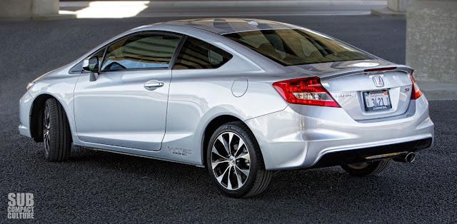 2013 Honda Civic Si Coupe rear 3/4