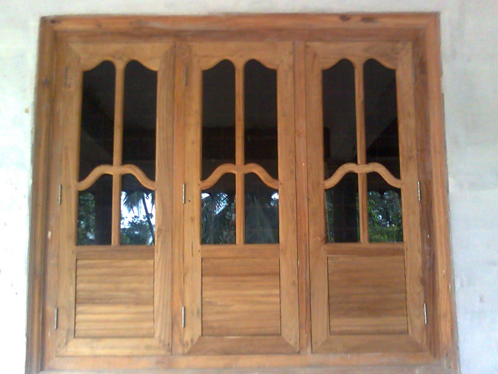 Bavas wood works wooden window doors simple designs - Wooden and glass door designs ...
