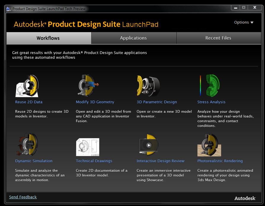 adraft tech talk autodesk product design suite launchpad. Black Bedroom Furniture Sets. Home Design Ideas