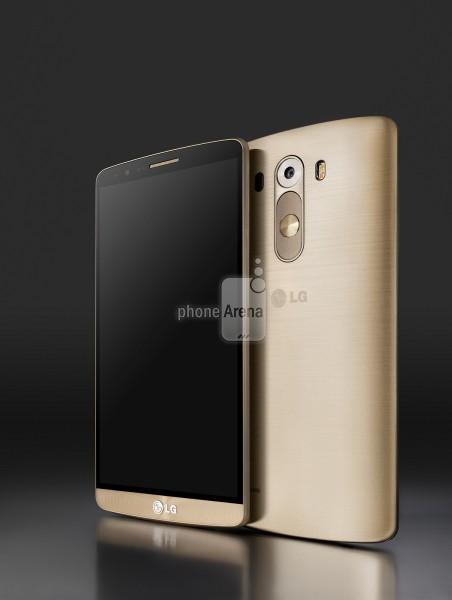 Foto press di LG G3 nella colorazione oro