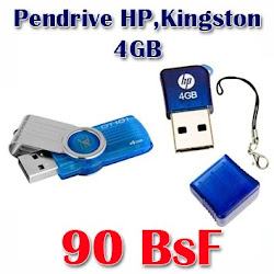 Pendrive HP, Kingston 4GB