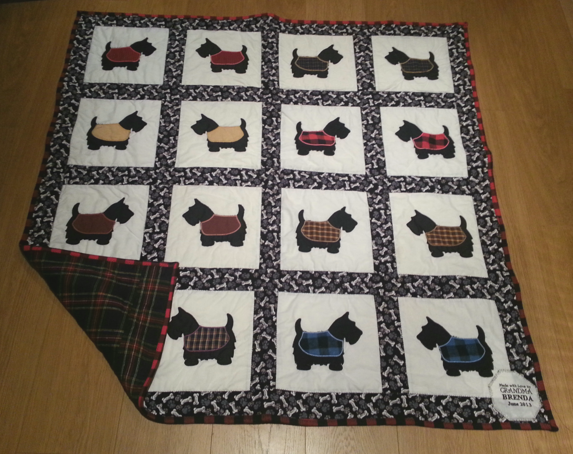 Small Town Oil Wife: Scottie Dog Quilt - Celebrating New Places : scottie dog quilt pattern - Adamdwight.com