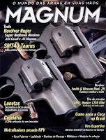 Contracapa da edição da revista Magnum SMT40 Taurus e Revólver Ruger - edição 117