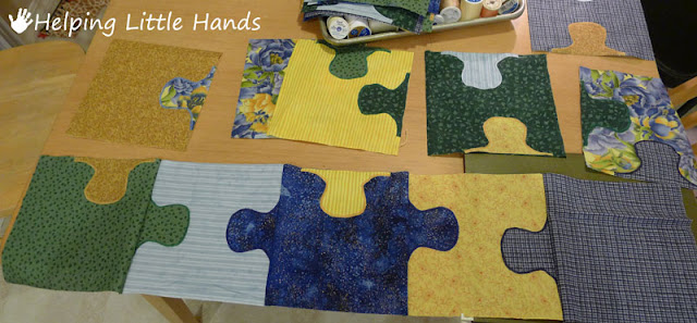 Jigsaw Puzzle Baby Quilt Free Pattern Included Reacher