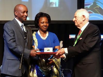 Rwandan Baptist Honored with Human Rights Award