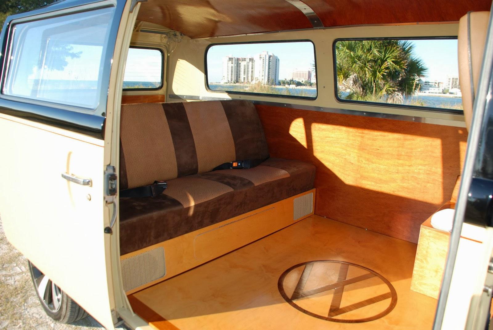 1966 volkswagen van custom shorty bus interior 181627 for Vw kombi interior designs