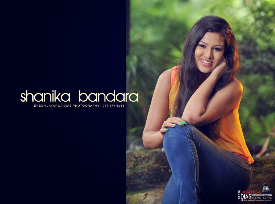 Shanika Bandara tight blue