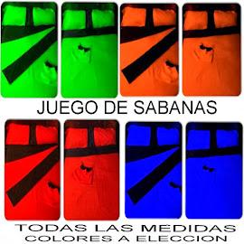 JUEGO DE SABANAS ( HACEMOS TODAS LAS MEDIDAS) COLORES A ELECCION