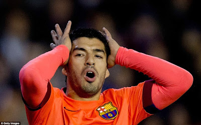 Suarez does not score for Barcelona