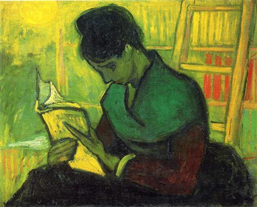 http://loscuadernosdevogli.blogspot.com.es/2015/09/vincent-van-gogh-novel-reader.html