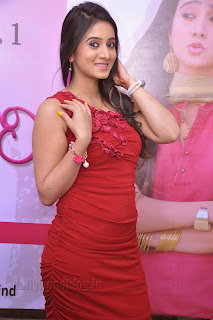 Harshika Pooncha latest Pictures in red 008.jpg