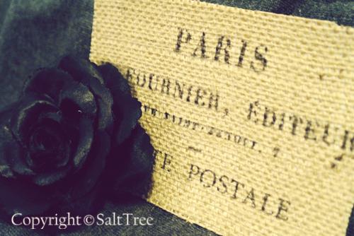burlap postcards