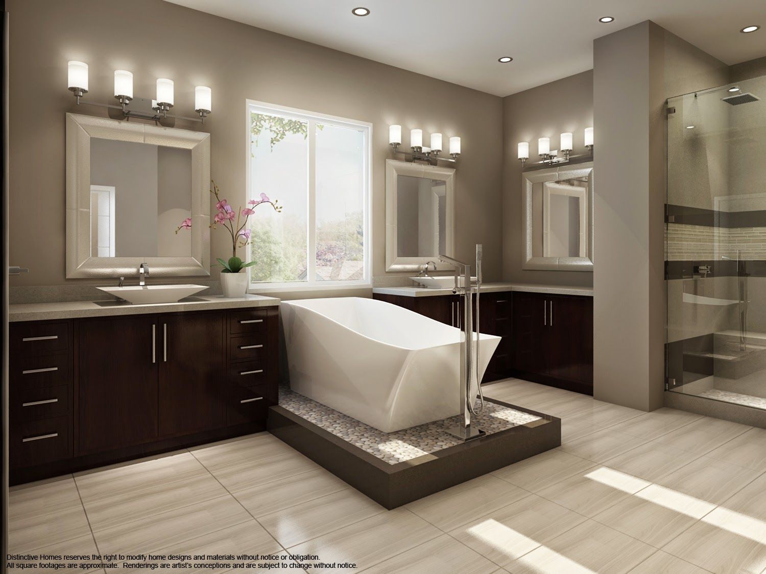Model Home Bathroom news & information: distinctive homes contemporary bathroom design