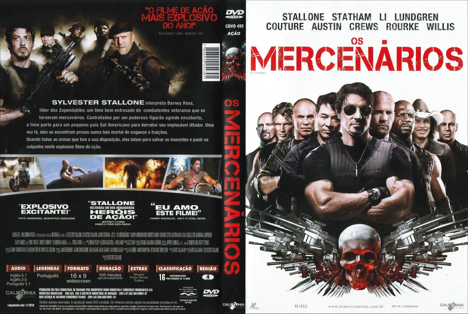 Os Mercenários DVD Capa