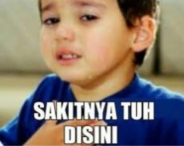 Gambar Meme DP BBM  Sakitnya Tuh Disini Terbaru