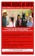 O'odham to honor Zapatistas Galeano on Aug 2, 2014 in Tucson