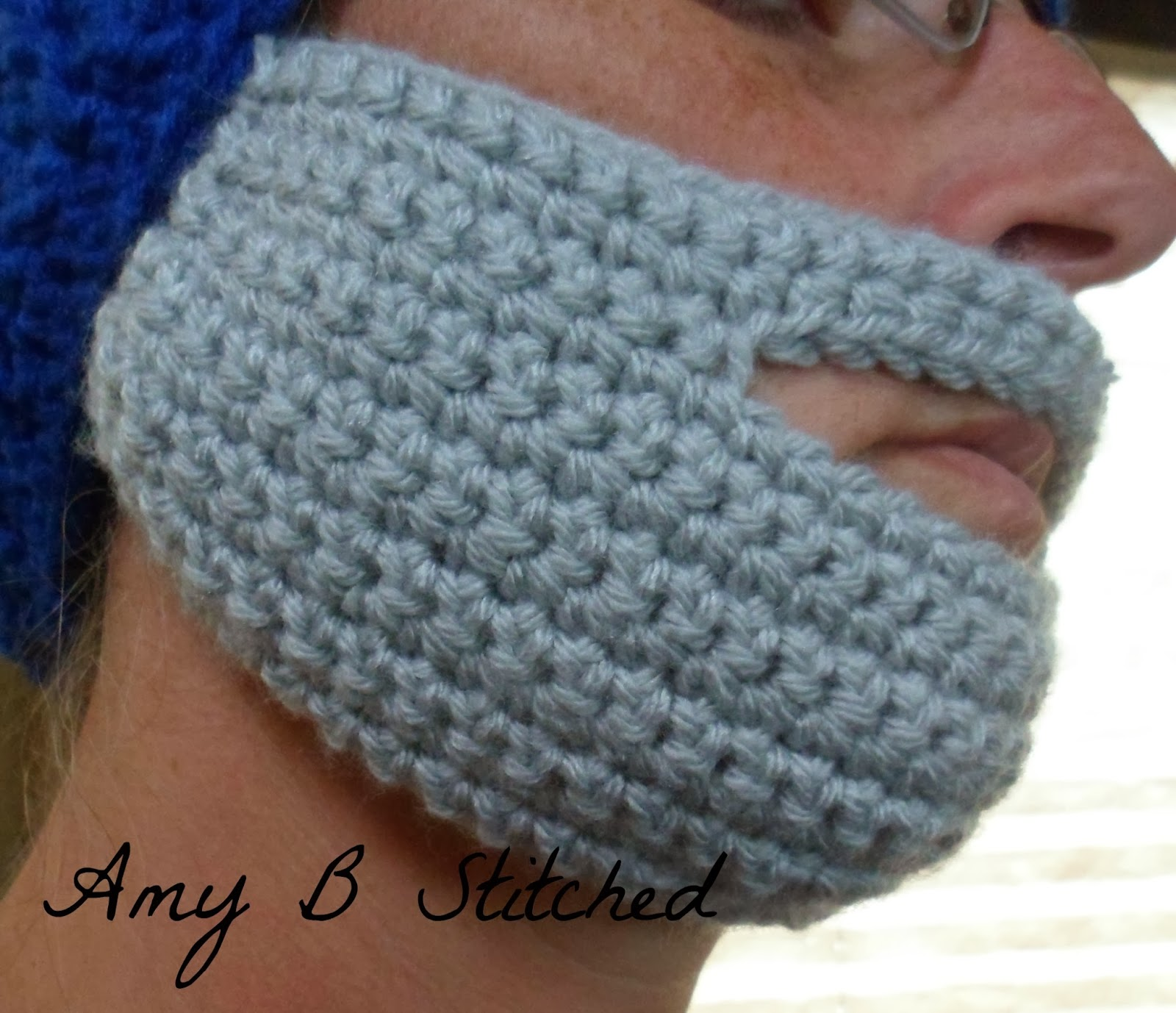 A stitch at a time for amy b stitched crochet beard pattern crochet beard patternif you cant grow one you might as well crochet one dt1010fo