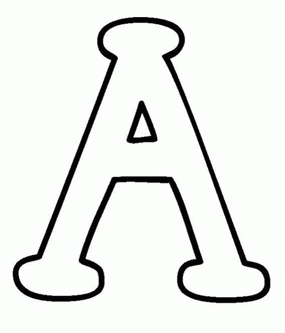 dibujos de puntos y colorear: colorear letras del abecedario