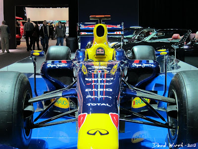 Close up view of the Red Bull F1 Car