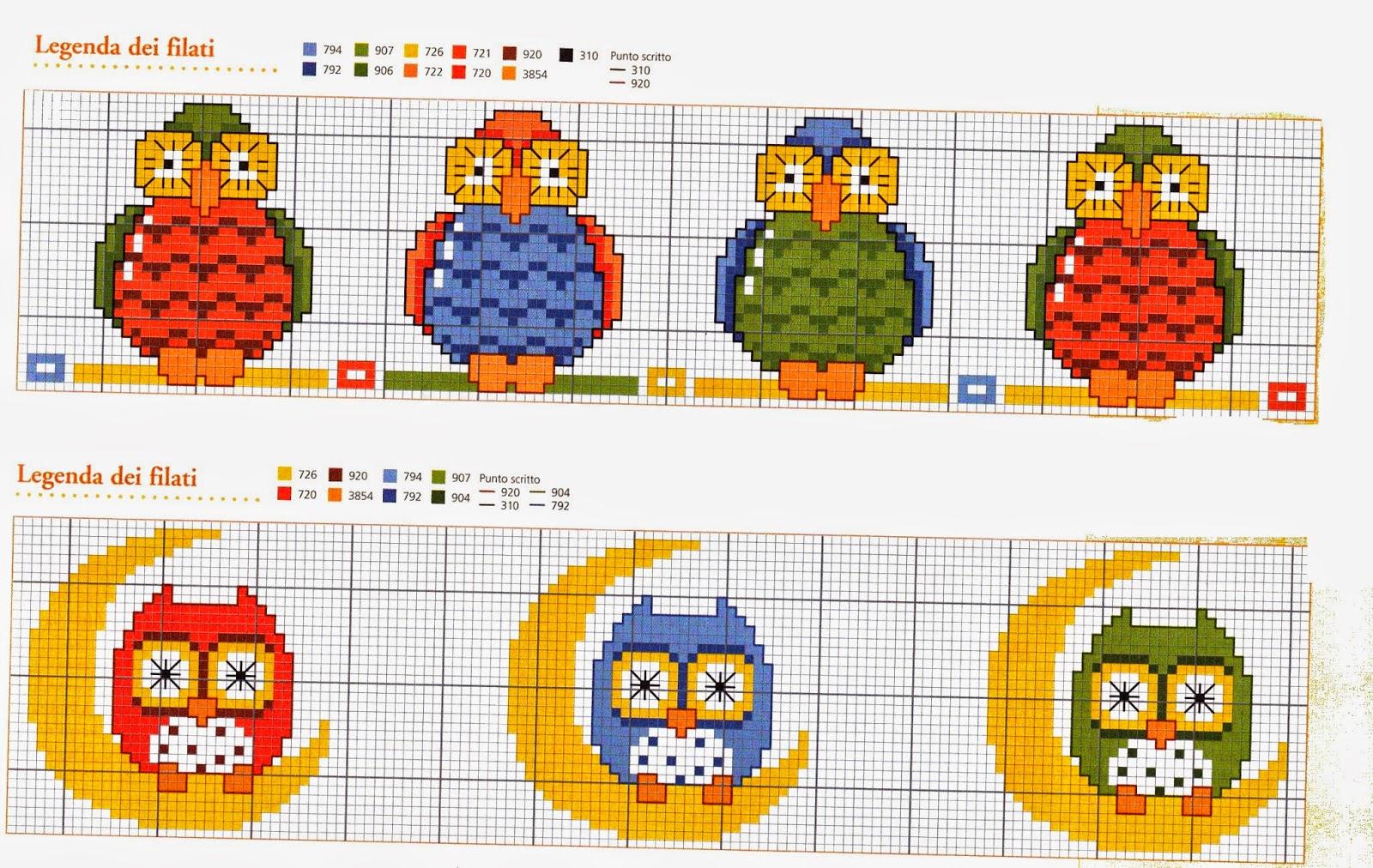 Grande raccolta di schemi e grafici per punto croce free for Animali con asciugamani