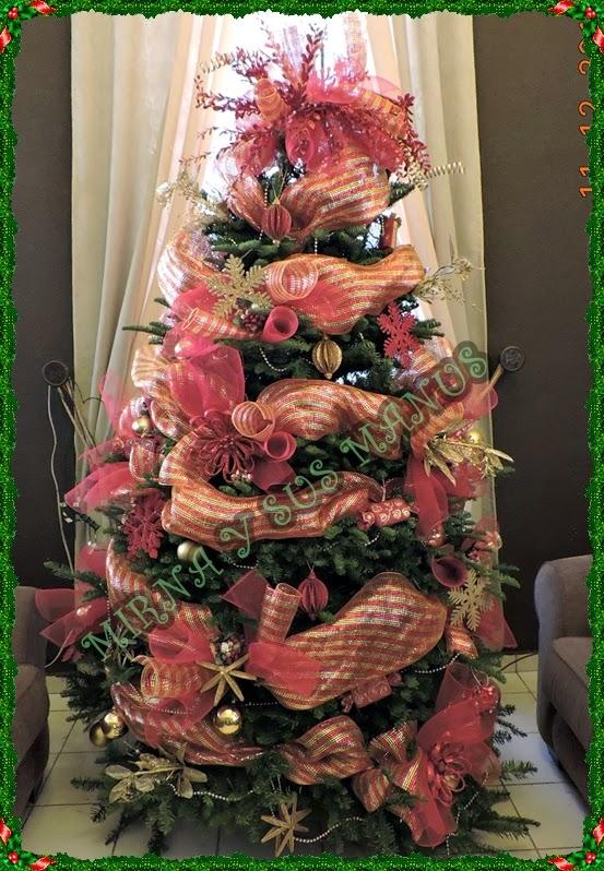 decoracion arbol de navidad mallas de arbol de navidad imagui