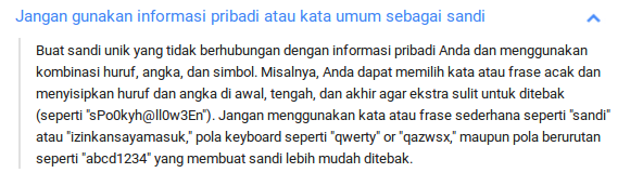 membuat password
