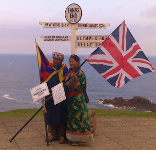 Lands End Olympic torch relay 2012