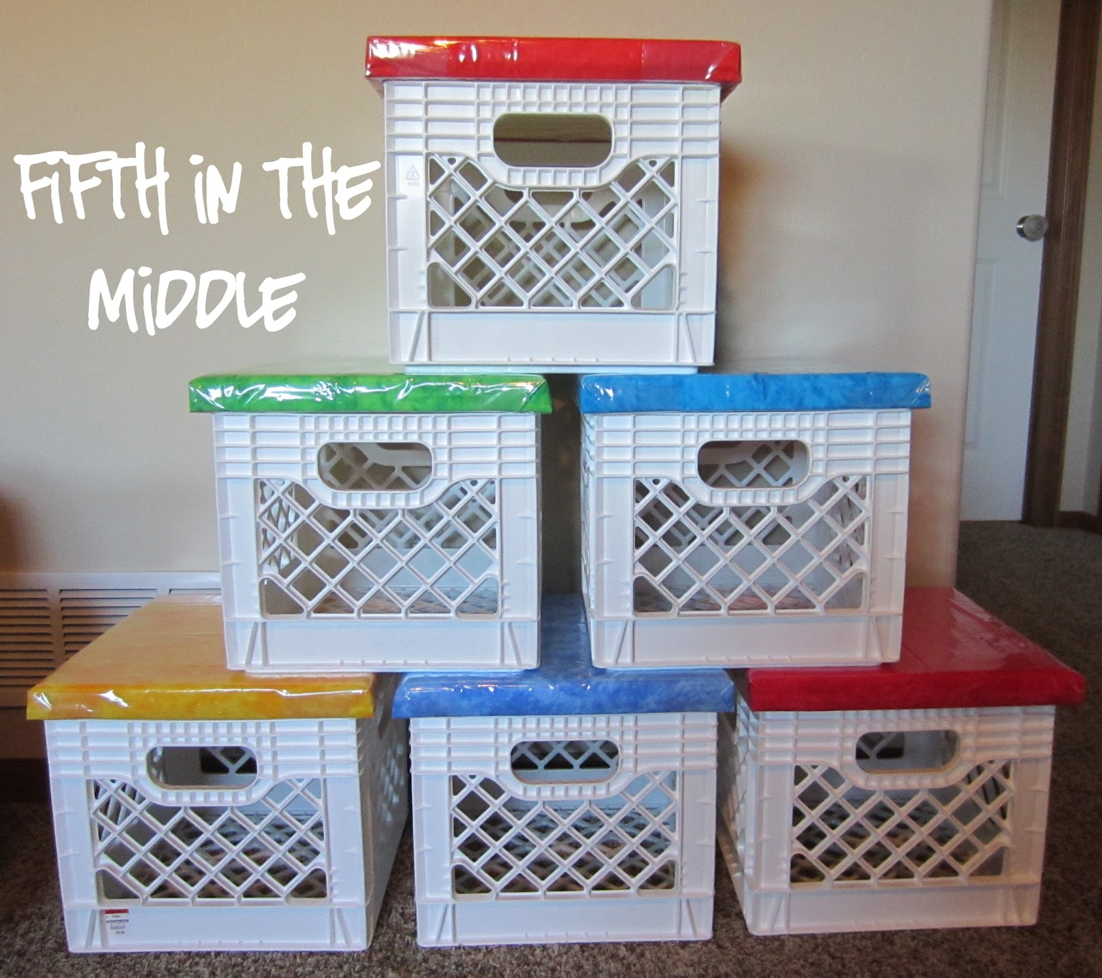 Incroyable Milk Crate Seats Provide Alternate Seating And More Storage Space.