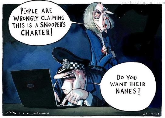 Snoopers' Charter. Is Big Sister Watching You