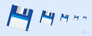Create a floppy disk icon vector
