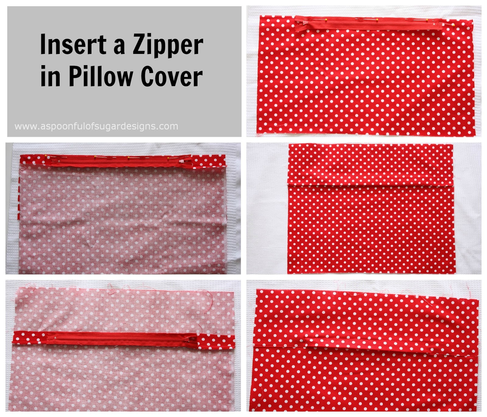 No Zipper Pillow Cover Tutorial: Travel Neck Pillow Cover   A Spoonful of Sugar,