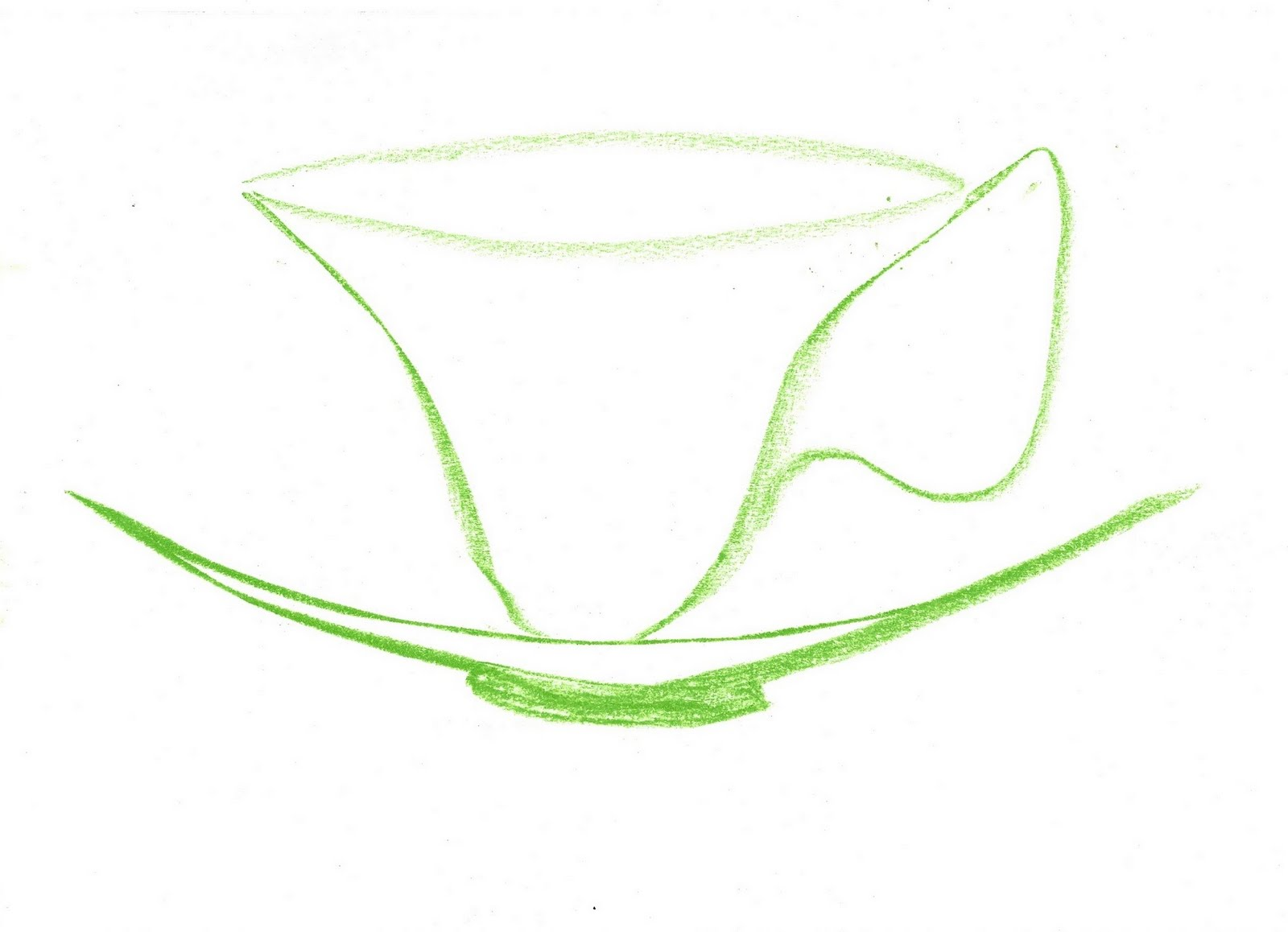 Teacup and saucer - the Esther Montgomery sit and think sign