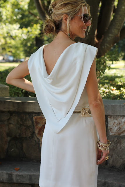 Zara Belt, Vintage Dress, Luv Aj Earrings, Melinda Maria Ring, Blinde Sunglasses, the Queen City Style