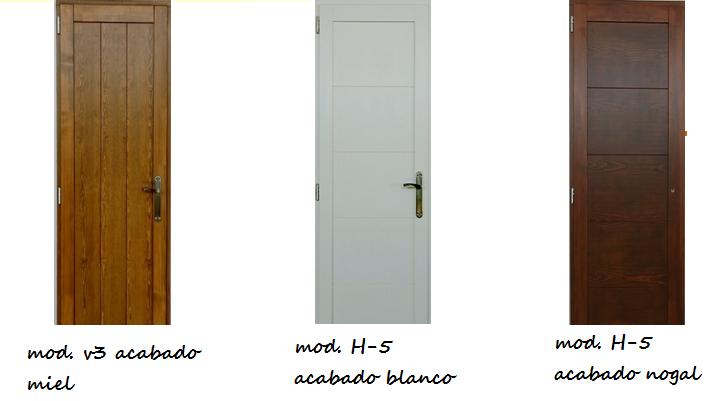 Made of wood puertas de interior en madera maciza las for Pintura para puerta de madera exterior