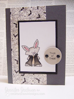 Vampire Bunny Card for Newton's Nook Designs Inky Paws Challenge #3