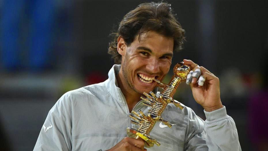 Rafa Nadal celebra su cuarto título en Madrid
