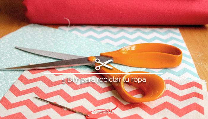 diy recicla ropa vieja reciclaje moda tijeras naranjas
