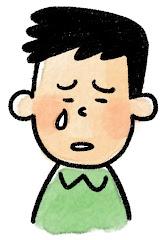 男性の表情のイラスト(泣き)