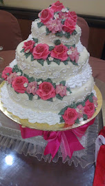 WEDDING CAKE 3TIER/ STEAM BUTTER CREAM