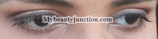 Simple neutral smoky eye makeup look with Accessorize eyeshadows