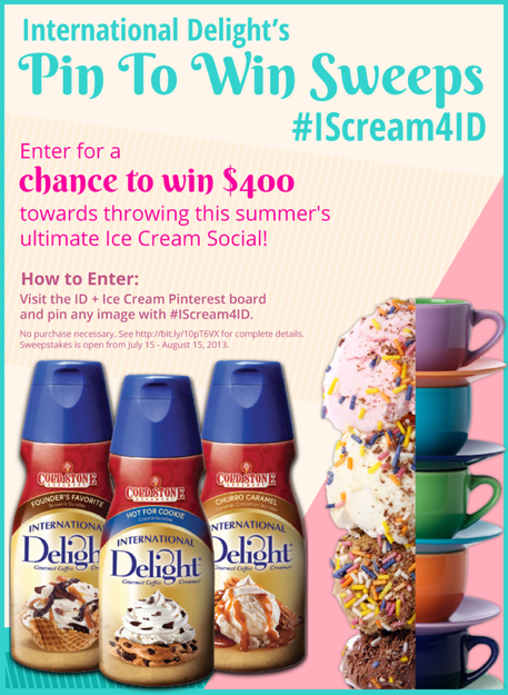 International Delight's Pin to Win Sweeps #IScream4ID {ishouldbemoppingthefloor.com}
