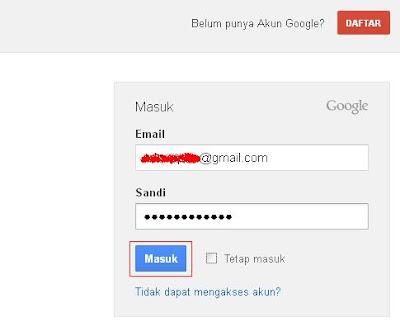 Cara daftar google+