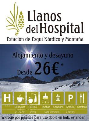 OFERTA LLANOS DEL HOSPITAL PARA LOS ESQUIADORES DE TRAVESÍA (Benasque)